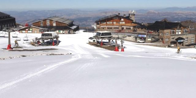 Estación de Sierra Nevada durante el día de inauguración