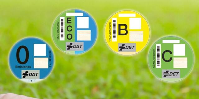 distintivos DGT