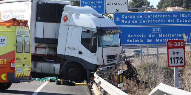 Accidentes de camiones en la N-340