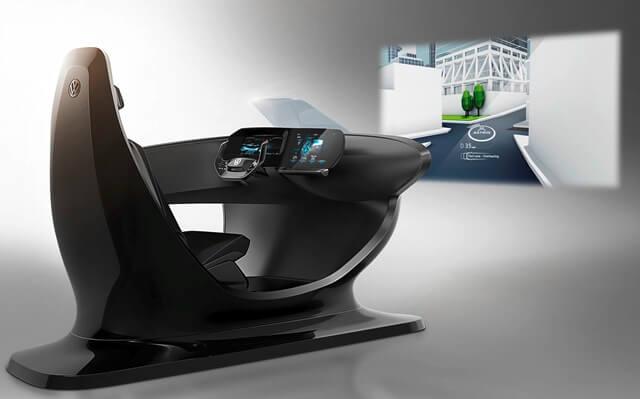 cabina digital de realidad aumentada de volkswagen