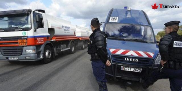 conductores franceses profesionales en control policial