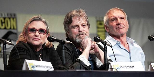 carrie fisher mark hamill harrison ford