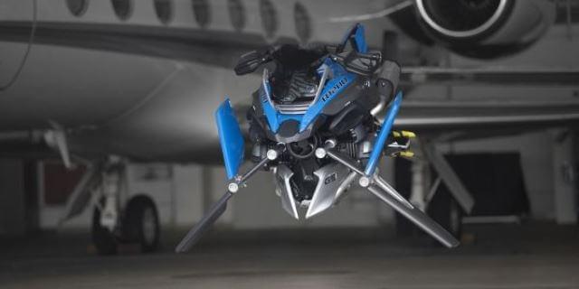 moto voladora de lego y bmw hover ride concept