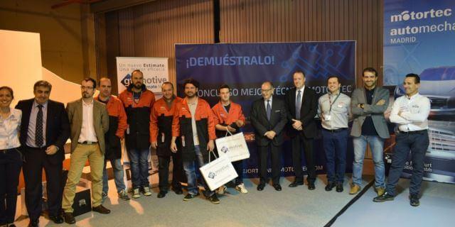 podium concurso mejor mecanico espana