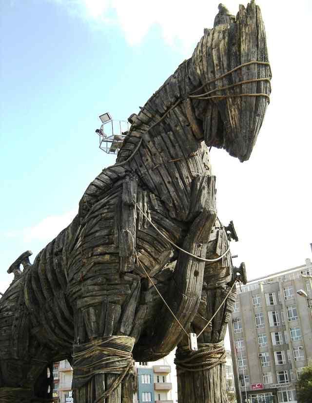 El Caballo de Troya, uno de los caballos más famosos de todos los tiempos