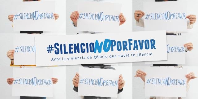 cartel #SILENCIONOPORFAVOR violencia machista mutua madrilena
