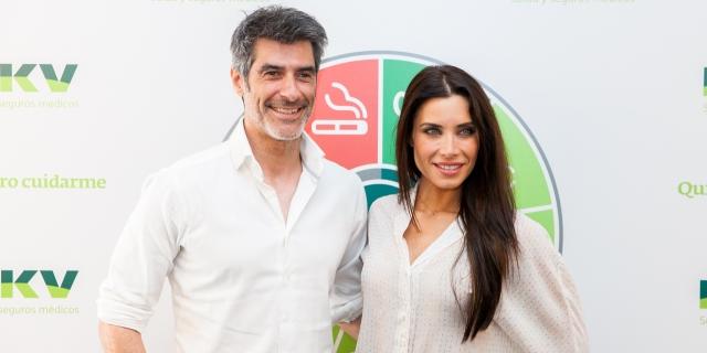 Pilar Rubio y Jorge Fernandez en la presentación de 'Quiero cuidarme'
