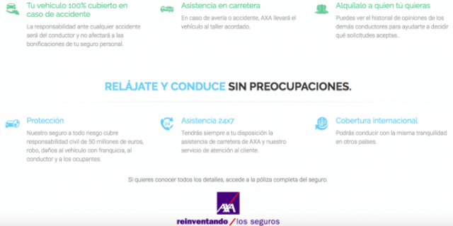 Coberturas del seguro AXA en eccocar