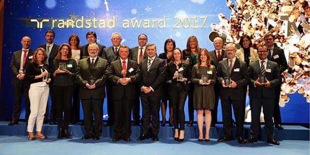 """Ganadores del premio """"Randstad Award"""" 2017"""