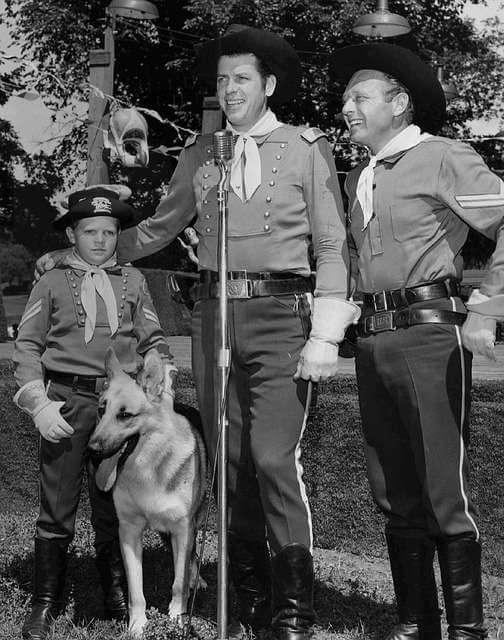 Rin Tin Tin, durante el rodaje de la serie de televisión