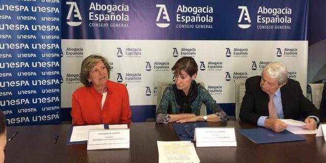 Firma del convenio de reclamaciones de accidentes de UNESPA, TIREA y Abogacía