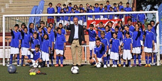 Vicente Del Bosque en una de las ediciones del Campus patrocinado por PELAYO
