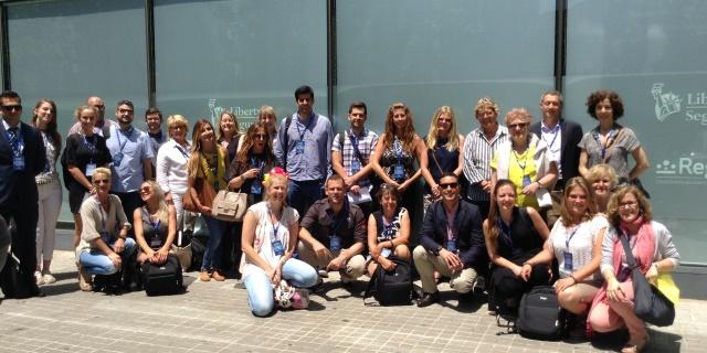 Profesionales del Seguro en el Centro de Servicio a Mediadores de Liberty en Barcelona