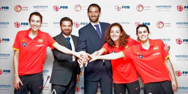 acto patrocinador oficial federacion española baloncesto SANTALUCÍA