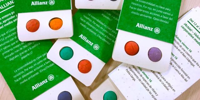 """Agenda del """"Ecomes"""" de Allianz con bomba de semillas"""