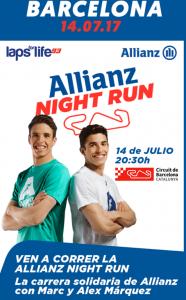 allianz night run con los hermanos marquez