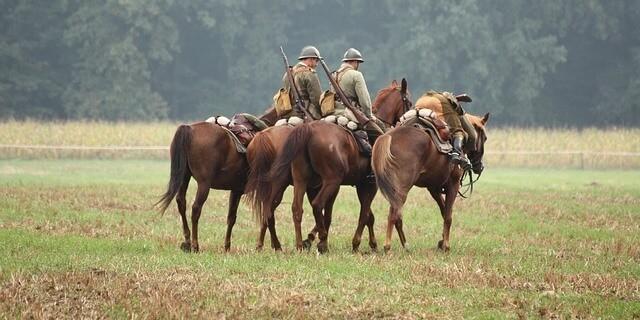 Los caballos fueron muy utilizados en la I Guerra Mundial