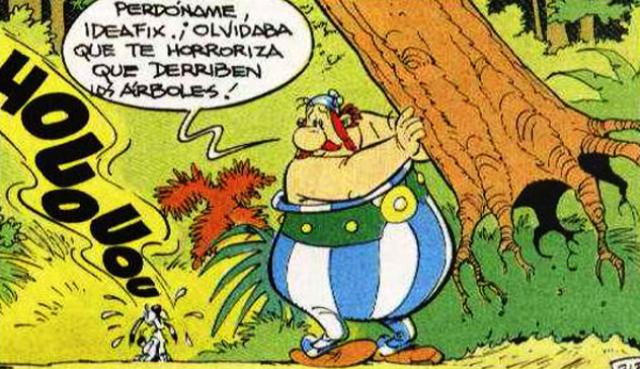 idefix el perro ecologista del comic