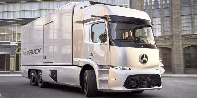 Camión Mercedes Benz eléctrico que podría beneficiarse de las ayudas del Plan MOVEA