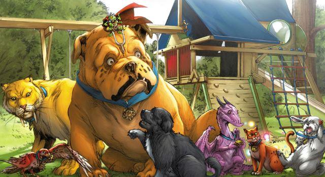 Lockjaw o Mandíbulas en su serie junto a los Pet Avengers (Vengadores Mascota)