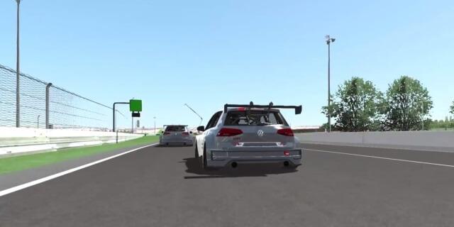 Simulación del Volkswagen GTI TCR en competición