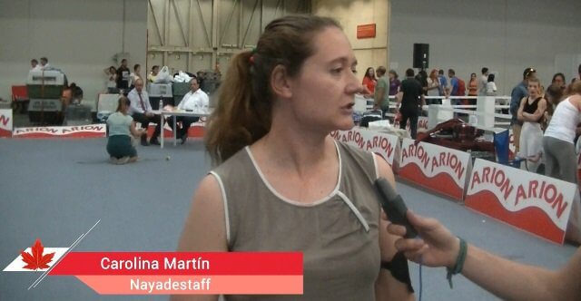 Carolina Martín, del afijo Nayadestaff de la raza Staffordshire Bull Terrier