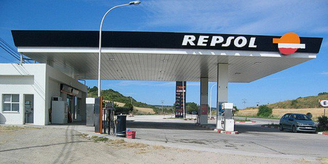 Una distribuidora de la petrolera Repsol.