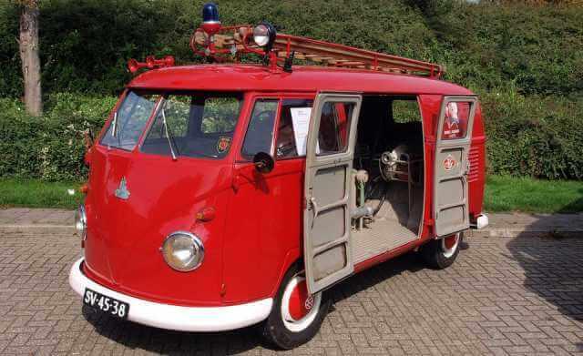 La Volkswagen Bully también se empleó como vehículo de bomberos.