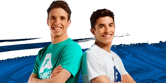 alex y marc marquez son los embajadores de la allianz night run de cheste