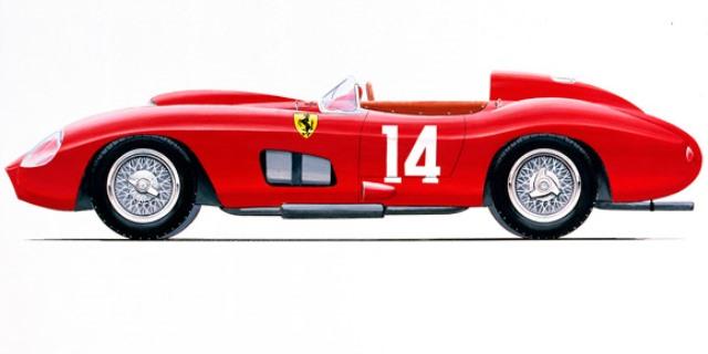El Ferrari 335 Spider Scaglietti 1957.
