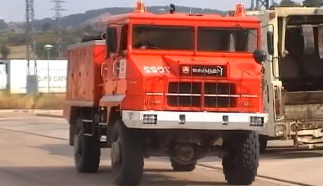 El Pegaso 3046 se empleó como camión de bomberos.