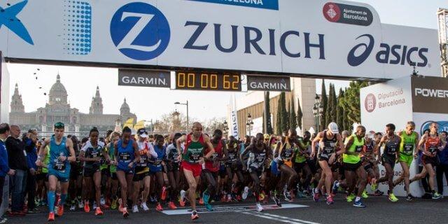 """Maratón de Barcelona patrocinado por Zurich a través de """"Corre Gratis"""""""