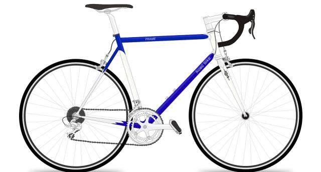Bicicleta de carretera o de carreras.