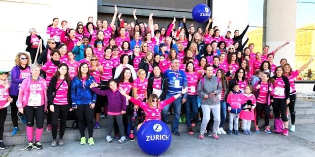 Trabajadoras de Zurich en la Carrera de la Mujer