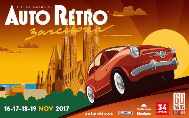 Imagen promocional de AutoRetro Barcelona 2017.