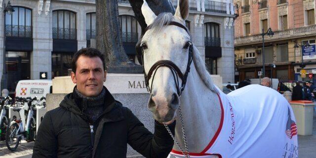 Jinete español de PRE dedicado a la cría de caballos.