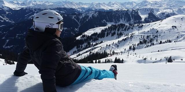 Haciendo un descanso durante la jornada de esquí
