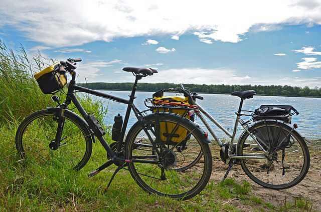 Bicicletas con canastillas.