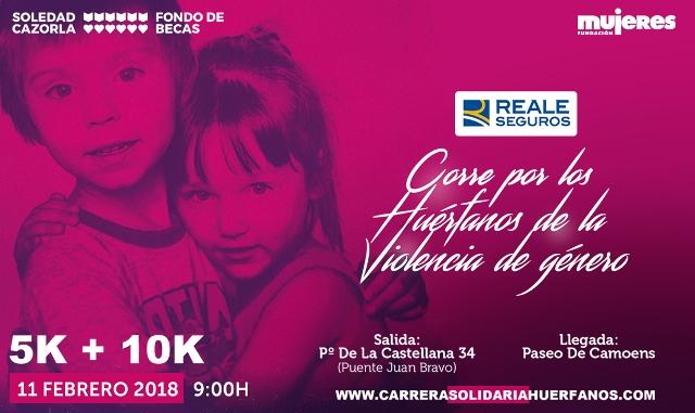 carrera solidaria en favor de los niños y niñas huérfanos como consecuencia de asesinatos de violencia de género