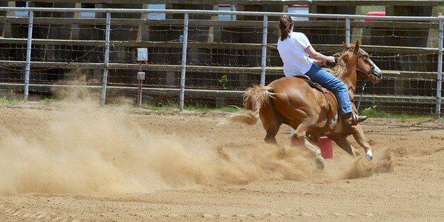 Caída a caballo.