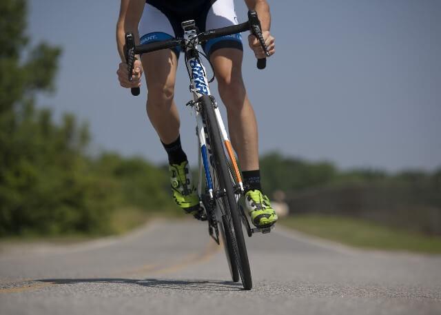 Zapatillas de un ciclista
