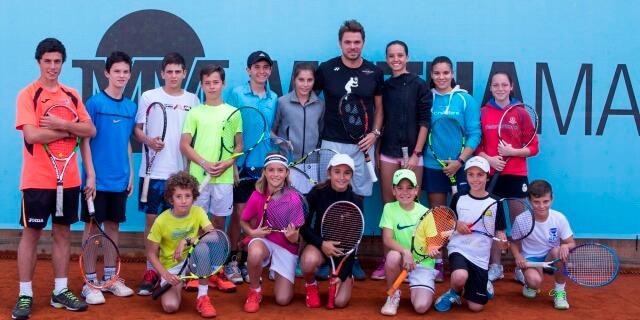 Imagen de la última edición del torneo infantil de tenis de Mutua Madrileña