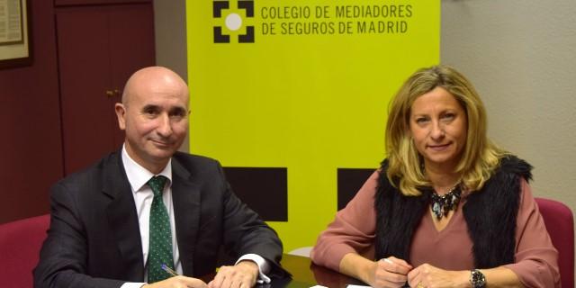 José Manuel Nieto Director Territorial Centro del Negocio Agentes y Corredores de Caser y Elena Jiménez de Andrade presidenta del Colegio