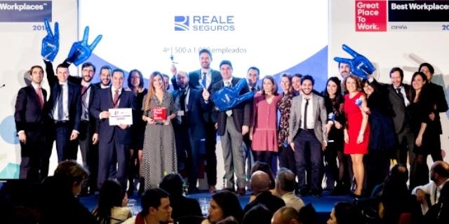 Reale Seguros vuelve a estar entre los mejores lugares para trabajar según el ranking de Great Place to Work