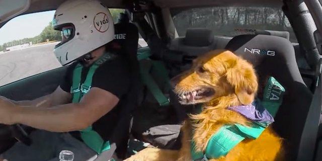 Jett disfruta del drifting como copiloto (Foto: Vídeo Ens Auto).