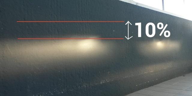 reglaje luces coche contra una pared