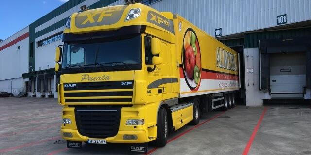 Habrá inspección en carretera a camiones como este de la correcta estiba y sujeción de las mercancías
