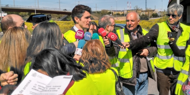 Responsable de la DGT presentando la campaña de control de velocidad de abril