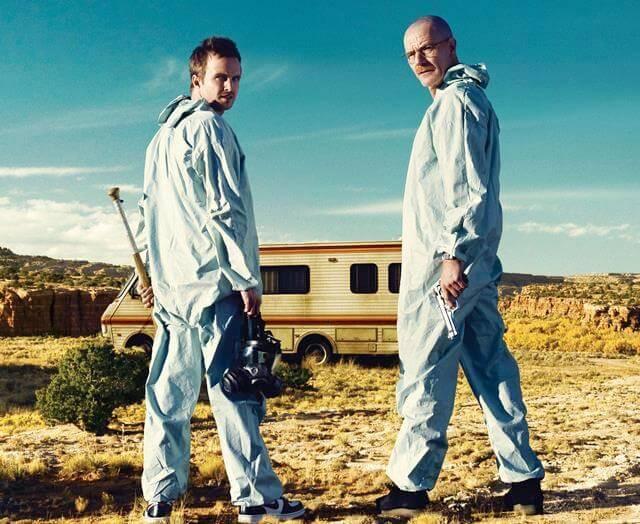 autocaravana de BREAKING BAD con Walter White alias Heisenberg y Jesse Pinkman