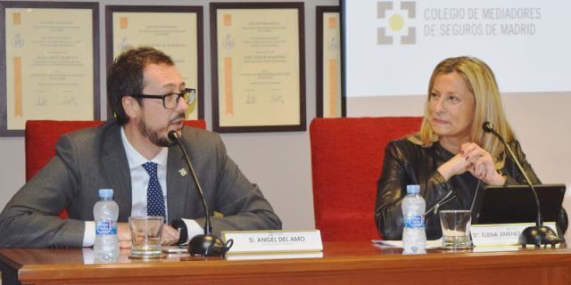 elena jiménez de andrade presidenta del colegio de mediadores de madrid presentando la campaña para fomentar la figura del mediador